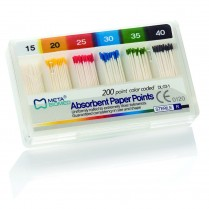 101-APB25 Absorbent Paper Points Bulk Color Coded #25 (200)
