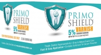 101-FV150BG Primo Shield Sodium Fluoride Varnish 5% BubbleGum .40ml (50)
