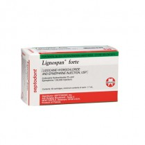 101-LIDOGREEN Lidocaine Green 2% (Lignospan) 1:50,000 w/Epi (50)