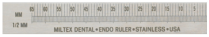 "360-25703 Miltex Stainless Steel Ruler 3"" Right Hand"