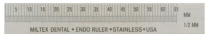 "360-25705 Miltex Stainless Steel Ruler 3"" Left Hand"
