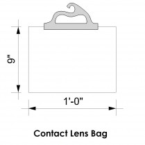 "CL/BAG10PK Contact Lens 12"" x 9"" Delivery Bags (pack of 10)"