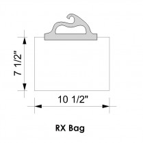 "RX/BAG10PK Rx Job 10"" x 7.5"" Delivery Bags (pack of 10)"