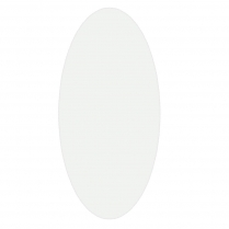 "ST/DOVALMIRROR Oval Beveled Mirror 16-3/4""W x 37-3/4""H"