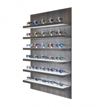 locking eyewear display, locking shelf display, locking sunglass shelf display