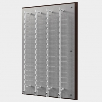 wall eyewear display, acrylic wall panel, acrylic eyewear display