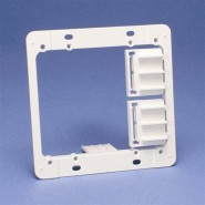 CAD-MPAL2 Caddy (MPAL2) Plastic Mounting Plate Bracket - double
