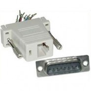 CON-JK837 Adapter - DB15 Male / RJ12 6conductor