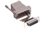 CON-JK838 Adapter - DB15 Female / RJ12 6conductor