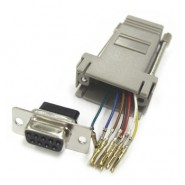 CON-JK844 Adapter - DB9 Female / RJ12 6conductor