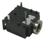 MODE-243910 3.5mm Stereo PC Mount Jack - 2 NC Switches