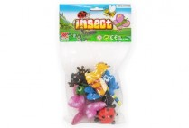 002670 SOFT FUNNY INSECTS 6 PCE
