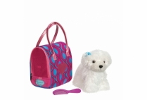 011817 PUCCI PUPS - GLAM SWIRLY BAG & BICHON FRISÉ