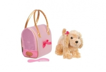 011819 PUCCI PUPS - GLAM GOLD DOT BAG & C. SPANIEL
