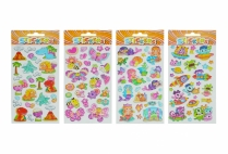 011911 GLITTER PUFFY STICKERS 90X210 ASTD
