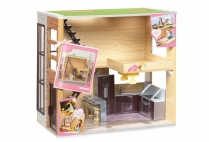 012402 LORI - LOFT TO LOVE WOODEN DOLLHOUSE