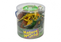 012657 NATURE WORLD 18 PCE DINOSAURS IN C/CASE ASTD