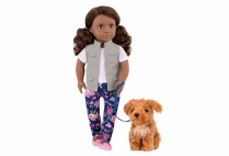 013382 OG DOLL & PET MALIA BRUNETE W/ POODLE