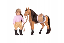 014255 LORI - 6 INCH FASHION DOLL CELIA & HORSE CINNAMON BROWN