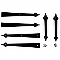 BK7107BL Decorative Garage Door Hardware Kit (Black)
