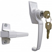 SK12 Classic Push-Button Handle Set with Key lock (White)