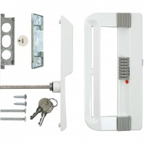 SK800KBL Patio Door Handle Set with Keyed Lock (White)