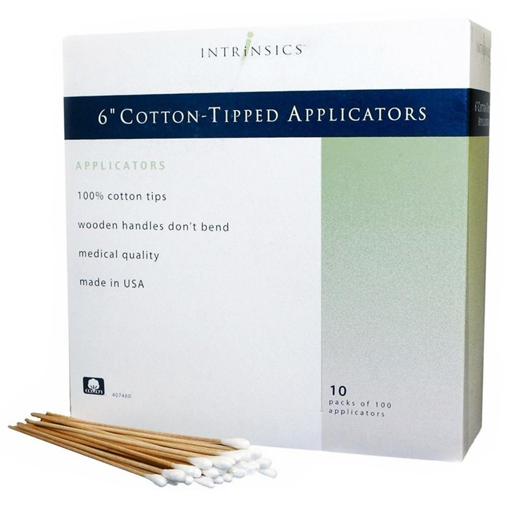 "AC-COW-I6COT-PAC Intrinsics 6"" Cotton-Tipped Applicators10 Packs Of100 407480"