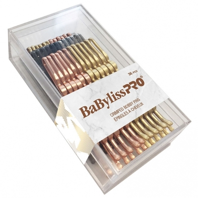 HP-MIS-38570-PAC BaBylissPRO Crimped Bobby Pins Gold 36 pcs BESBOBGOC