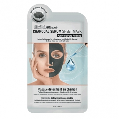 SC-FAT-37685-EAC Satin Smooth Ultimate Sheet Mask - Charcoal Serum - SSKDMK