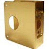 "Don Jo Wrap-Around, Brass, 2 3/8"" Backset, 1 3/8"" Door"