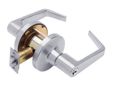 Falcon T501PD-Q-626 Entry Lock, Quantum Lever, Satin Chrome