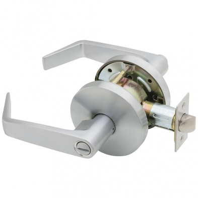 Falcon W301S-D-626 Privacy Lock, Dane Lever, Satin Chrome