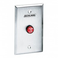 LN/701RD-EX Schlage Electronics Red Exit Button
