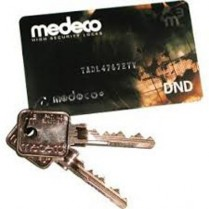 Medeco KY-DDCARD-DL Authorization Key Card With 2 Keys