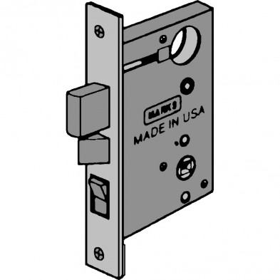 "MK/8A-3 Marks USA Mortise Lock Body, Entry Function, 2-1/2"" Backset"