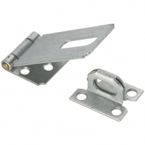 "PK/11206 S. Parker 11206 6"" Zinc Plated Fixed Staple Safety Hasp"