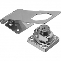 "PK/17264 S. Parker 17264 4-1/2"" Long Chrome Plated Hinge Hasp"