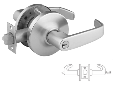 Sargent 2860-10G05-LB-26D Entry Cylindrical Lever Lock