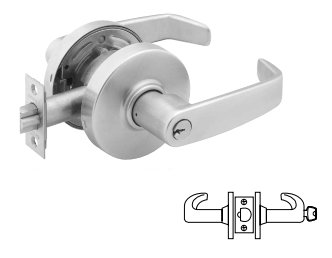 Sargent 2870-7G37-LL-26D Classroom, Cylindrical Lever Lock