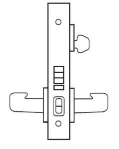 Sargent 8255-26D Office Mortise Lock, Lock Body Only