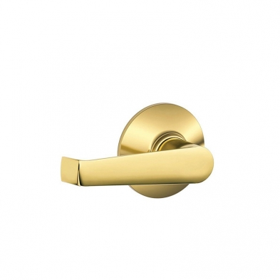 Schlage F10-ELA-605 Passage Latch, Elan Lever, Bright Brass