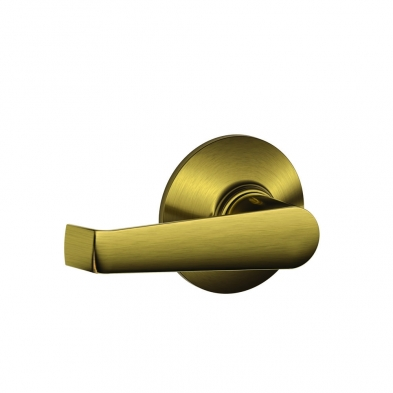 Schlage F10-ELA-609 Passage Latch, Elan Lever, Antique Brass