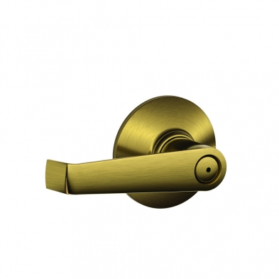 SC/F40-ELA-609 Schlage F40-ELA-609 Privacy Lock, Elan Lever, Antique Brass