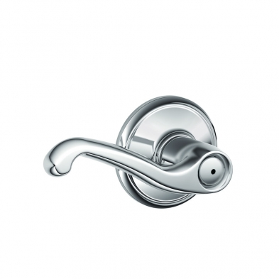 Schlage F40-FLA-625 Privacy Lock, Flair Lever, Bright Chrome
