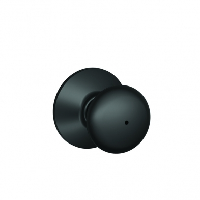 Schlage F40-PLY-622 Privacy Lock, Plymouth Knob, Black