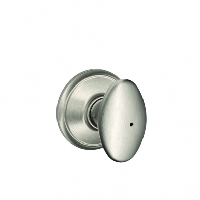 SC/F40-SIE-619 Schlage F40-SIE-619 Privacy Lock, Siena Knob, Satin Nickel