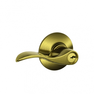 SC/F51A-ACC-609 Schlage F51A-ACC-609 Entry Lock, Accent Lever, Antique Brass