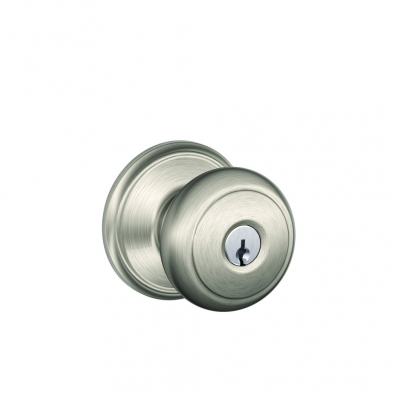SC/F51A-AND-619 Schlage F51A-and-619 Entry Lock, andover Knob, Satin Nickel