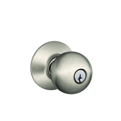 SC/F51A-ORB-619 Schlage F51A-ORB-619 Entry Lock, Orbit Knob, Satin Nickel