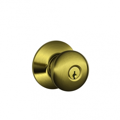 SC/F51A-PLY-609 Schlage F51A-PLY-609 Entry Lock, Plymouth Knob